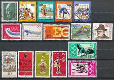 Bundespost  875 - 892 gebruikt zonder blok 12 en de zegels hieruit