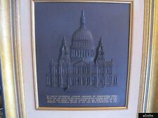 Rare Wedgwood Black Basalt Large St.Pauls Cathedral Plaque - L/E Of 250