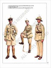 PLANCHE UNIFORMS PRINT WWI ROYAL AIR FORCES RAF BRITISH ARMY UNITED KINGDOM