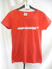 Ladies T-shirt - Fruit of the Loom, 'Stark Industries', Iron Man, red, XS - 7960