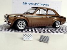1:18 T9 X2 ALEACIÓN Pie Descansa Greenlight Rally Ford Escort VW Modificado Tuning