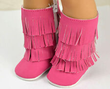 cute Hot selling rose red boot shoes for 18inch American girl doll party b294