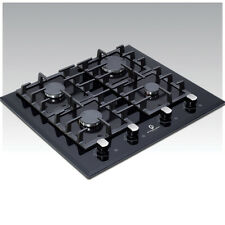Premier Range 60cm 4 Ring Black Glass Built-In Gas FSD Hob D-Series Pro