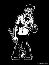 "Zombie Dad Golfer Man Male Father Family Car Decal Sticker ""The Walking Dead"""
