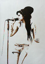 Amy Winehouse 28x16 Pop Art Painting NOT a print or poster Framing Available.