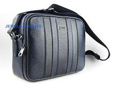 HUGO BOSS BLACK & BLUE SENDOR SHOULDER MESSENGER BAG 100% LEATHER NEW $595.00