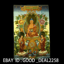 Tibetan Nepal Silk Embroidered thangka Tara Tibet --  Sakyamuni gd9589