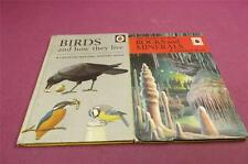 2 Vintage Ladybird books Birds and how the live , Rocks and Minerals