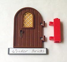Lego Door with Gold Lattice Pane 7189 Castle