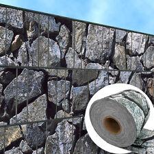 Bruchstein groß – bedruckter Sichtschutzstreifen Rolle Doppelstabzaun 2. Wahl #2