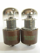 PAIR 1952 Sylvania JAN-CHS-5932 (6L6WGA, Special 6L6G) Beam Power tubes
