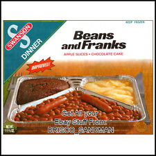Fridge Fun Refrigerator Magnet SWANSON TV DINNER: BEANS & FRANKS Retro Food