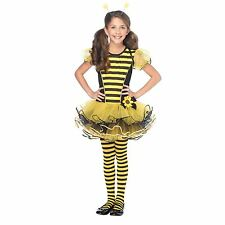 BUMBLE BEE tutu dress antennae wings kids girls halloween costume SMALL 4-6