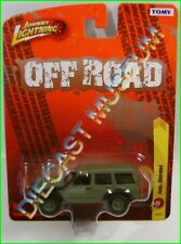 JEEP CHEROKEE ARMY GREEN LIFTED 4X4 OFF ROAD JOHNNY JL TOMY FOREVER DIECAST R23