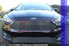 GTG, 2015 - 2017 FORD FOCUS 1pc CHROME UPPER REPLACEMENT BILLET GRILLE