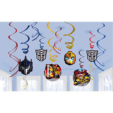 12pc~Transformers Hanging Foil Swirls Decorations Birthday Party Supplies Favors