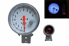 12V 5'' White Face Gasoline RPM Tachometer Tacho Gauge Rev Counter Shift Light