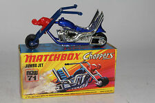 MATCHBOX SUPERFAST #71 JUMBO JET CHOPPER MOTORCYCLE, EXCELLENT, BOXED