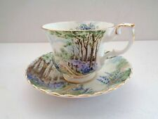 Vintage Royal Albert Bone China Country Scenes BlueBell Wood Tea Cup and Saucer