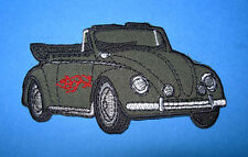 `VW BETTLE CONVERTIBLE` SEW OR IRON ON PATCH