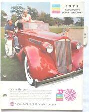 1975  NAPA COLOR PAINT CHIP BOOK DODGE  MOPAR FORD CHEVROLET OLDS PONTIAC AMC