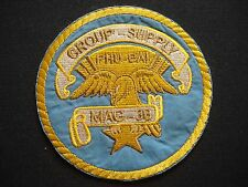 "USMC Marine Aircraft Group MAG-36 ""GROUP SUPPLY"" At PHU BAI Vietnam War Patch"