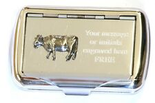 Diary Cow Tobacco Hand Rolling Cigarette Tin Roll Ups Cattle Farming Gift