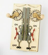 Green Tree Jewelry Double Rack Pinion White Wood Light Switch Plate Cover #8005
