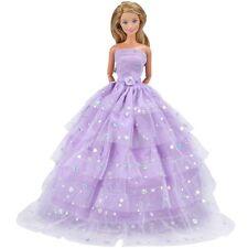 Mode Mehrlagige Pailletten Doll Kleid Lot Kleider Partei Ballgown für Barbie