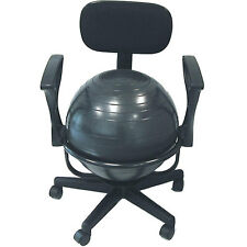 Ball Office Chair Exercise Desk Seat Posture Back Arm Equipment Balance Torso
