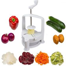 Brieftons Vertico Spiralizer: Vegetable Spiral Slicer Fresh Veggie Spaghetti ...