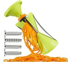 Vegetable Spiral Slicer Peeler Redesigned Handle 4 Blade Veggie Julienne Slicer
