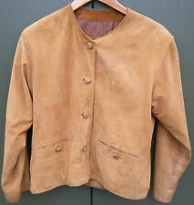 WOMENS SIZE 10 MILAN LEATHERWEAR BROWN SUEDE JACKET