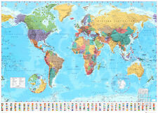 World Map 2012 Giant Poster Print, 55x39