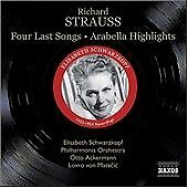 Four Last Songs, Arabella [highlights](matacic, Schwarzkopf)  CD NEW