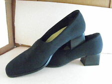 Sporty TALBOTS Black Stretch Nylon Pumps w/Rubber Soles/Heels 9M