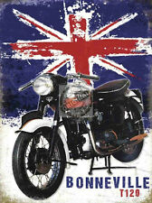 TRIUMPH BONNEVILLE BONNY T120 BRITISH CLASSIC VINTAGE MOTOR BIKE METAL WALL SIGN