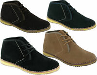 MENS SUEDE LEATHER LACE UP BOOT BOYS HIGH QUALITY CASUAL ANKLE DESERT SHOES SIZE