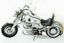 Handmade 1998 White BMW R1200C Motorcycle 1:8 Tinplate Antique Style Metal Model