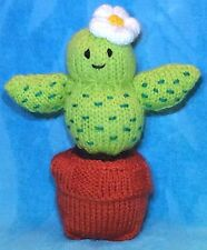 KNITTING PATTERN - Cactus Plant chocolate orange cover / 18 cms toy