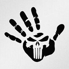 Hand Print Punisher Skull Car Motorcycle Laptop Vinyl Decal Sticker