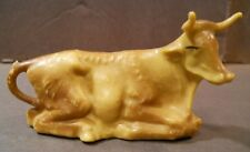 """Vintage 3 1/4"""" Laying Ox Cow Christmas Figure Manger Nativity Animal Creche"""