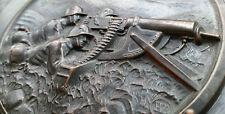 ✚6989✚ German post WW1 Reichswehr machine gunner plaque 18th Infantry Regiment