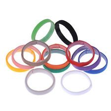 12 Color Resusable Whelping Puppy Kitten ID Collars Soft Velcro Bands