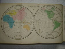 1824: Atlas with full page color maps! 2 volumes