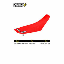 2004-2009 HONDA CRF 250 All Red FULL GRIPPER SEAT COVER by Enjoy MFG