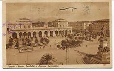 1940 Napoli Piazza Garibaldi e Stazione Ferroviaria tram Guller FP B/N VG ANIM