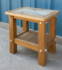 "24"" x 18"" x 24"" Rustic Timber End Table (Wood Top / Finished)"