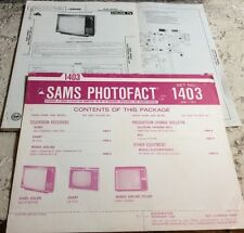 SAMS #1403 1974 RCA, SHARP, WARDS, SEARS, ELECTROPHONICS service manuals  my#232