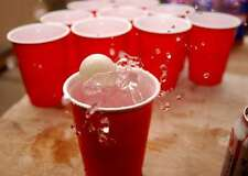 200 X RED DRINKING GAME PLASTIC PARTY CUPS BEER PONG (16oz) (like solo cups)